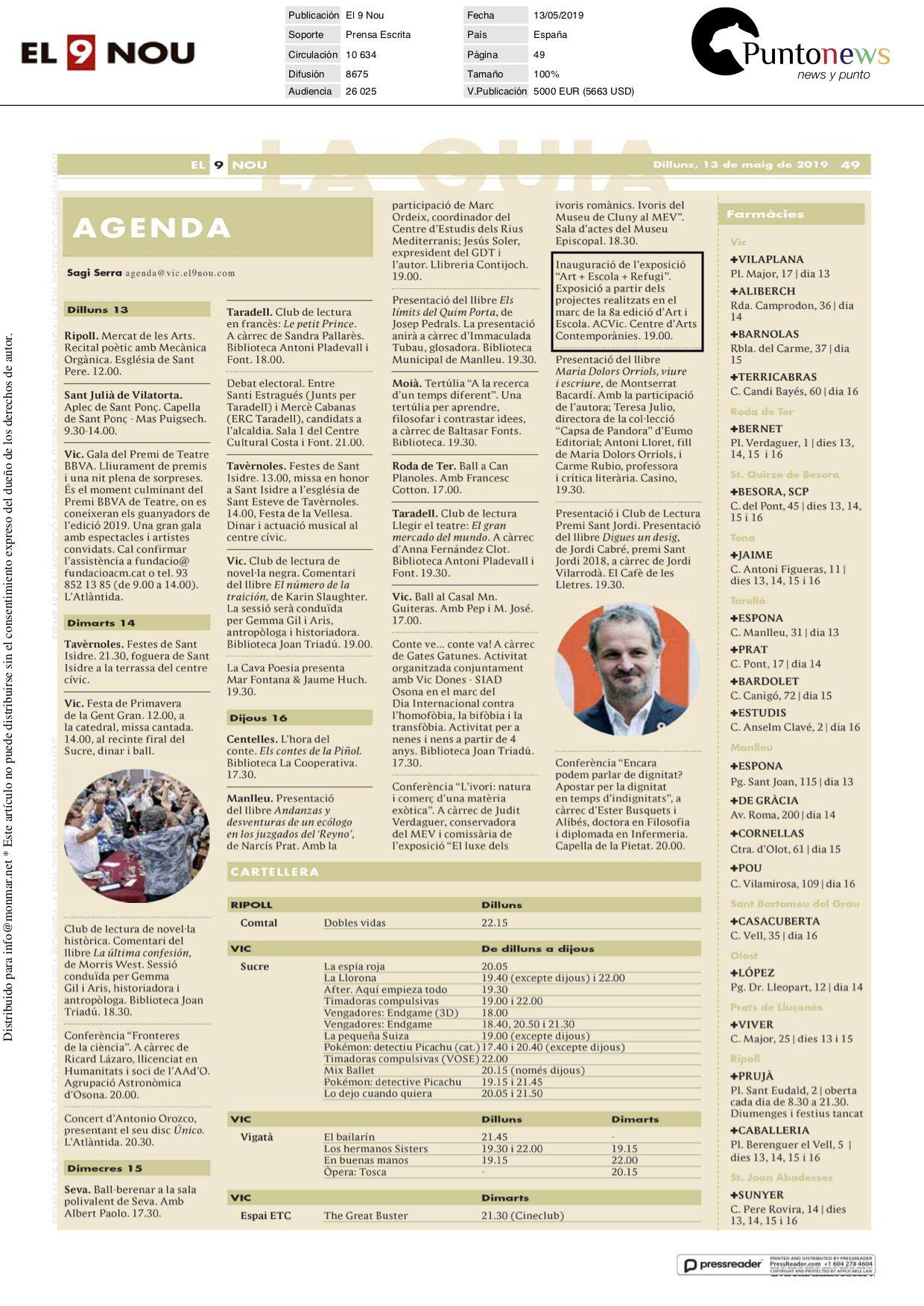13.05.2019 el9nou agenda